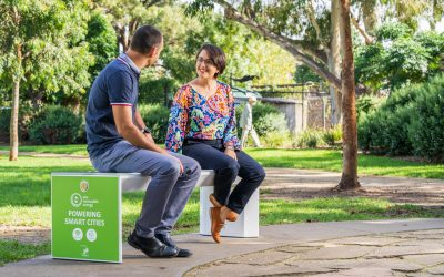 Smart Solar Benches arrive in Yarra Council