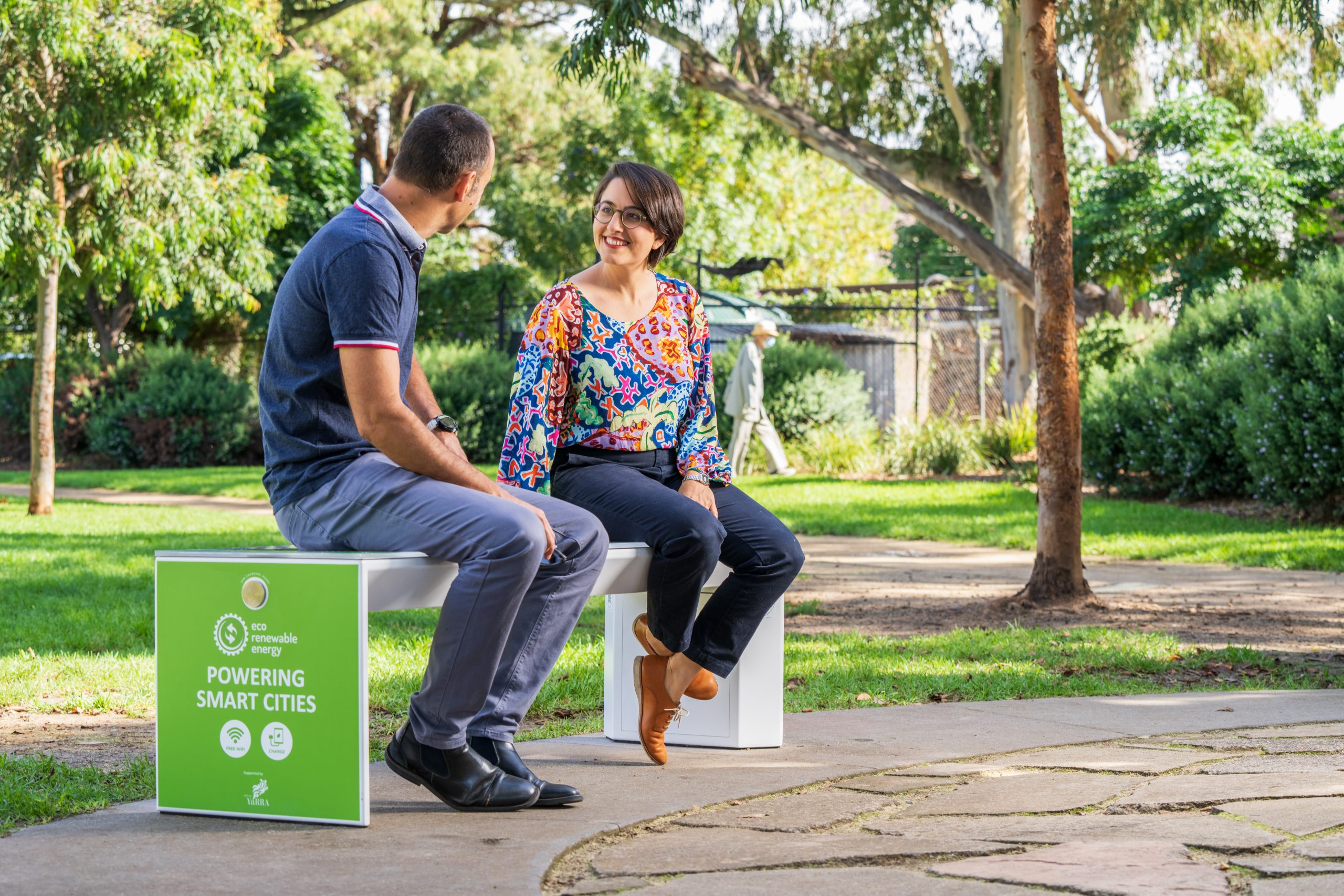 Smart Solar Benches in Atherton Reserve 19