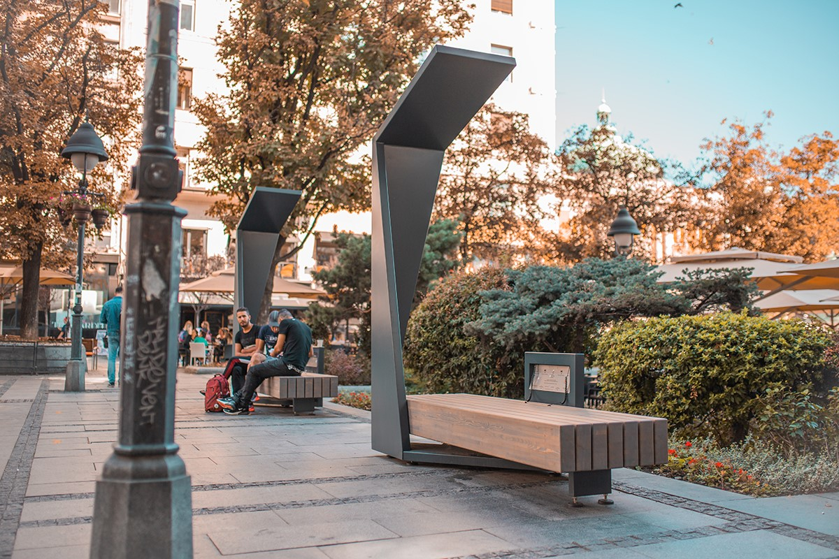 Smart outdoor Benches furniture