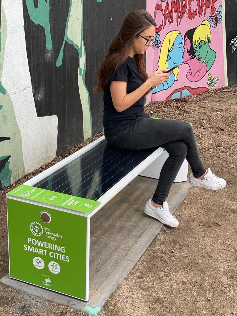 Stewart Street Yarra Council Smart Solar Benches   Eco Renewable Energy