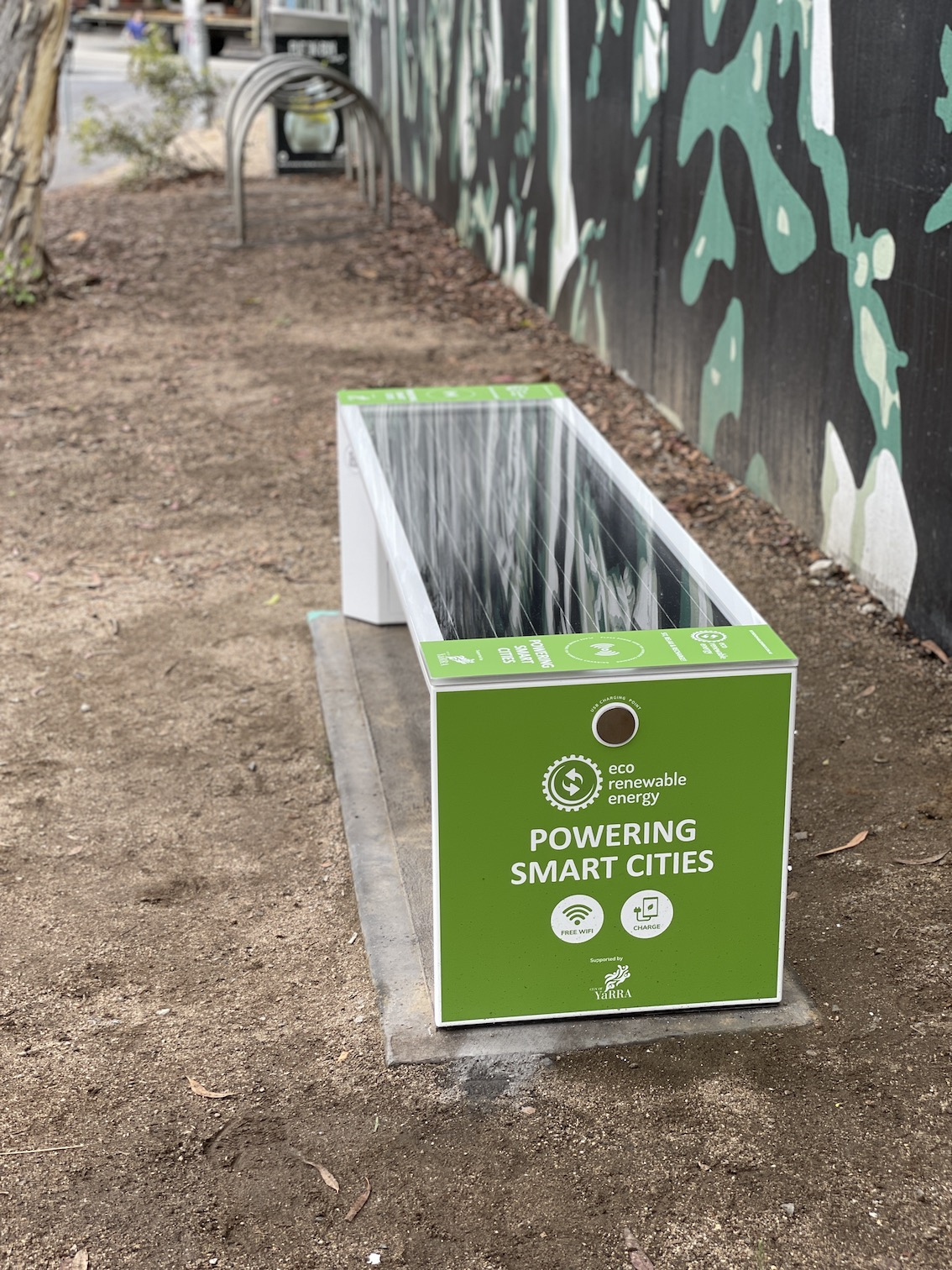 Yarra Council Smart Solar Benches   Eco Renewable Energy
