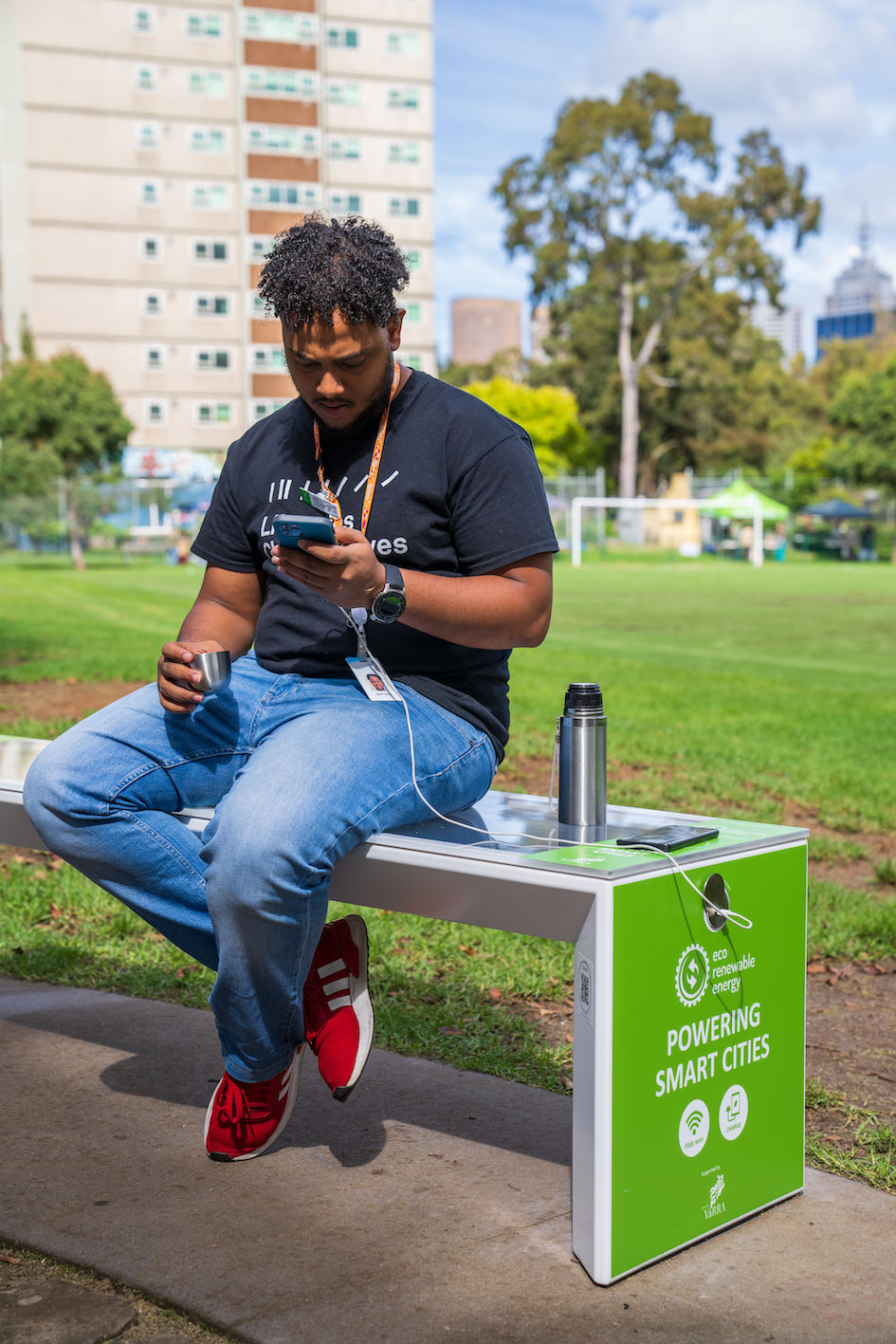 Smart Solar Benches in Yarra City